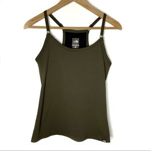 The North Face Olive Green Athletic Tank Top Sz Sm